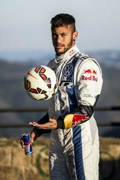 In this handout image provided by Red Bull, Neymar da Silva Santos Junior of Brazil plays with a football during a WRC-style session where he acted as co-driver for double world rally champion. Get premium, high resolution news photos at Getty Images Neymar Jr, Neymar Wallpaper, Messi Fans, Good Soccer Players, Best Player, Lionel Messi, Psg, Fc Barcelona, Cristiano Ronaldo
