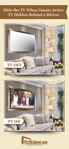 """Quality TV Mirrors that are perfect for any room Our TV's are individually bench made framed mirror televisions. When the TV is in the off position, it appears as a decorative framed wall mirror blending effortlessly into your room. When turned on, the TV is fully functional, smart TV. Our TV's ship completely assembled and include a specialized slim wall mount bracket allowing it to be hung easily and quickly. Our mirror TV's come in 32"""" to 65""""."""