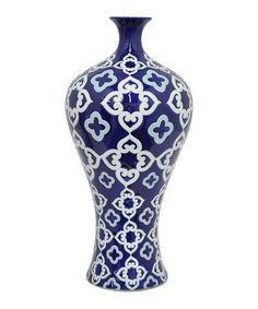 Loving this Quatrefoil Porcelain Vase on #zulily! #zulilyfinds