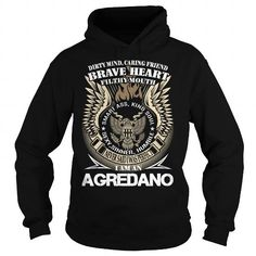 Awesome Tee AGREDANO Last Name, Surname TShirt v1 T shirts