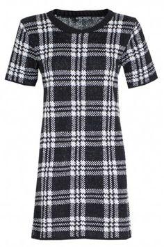 Mono check dress - Select