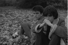 Mike Joyce and Johnny Marr of The Smiths at Kew Gardens, London, England  (1983) ―  photo by Derek Ridgers.