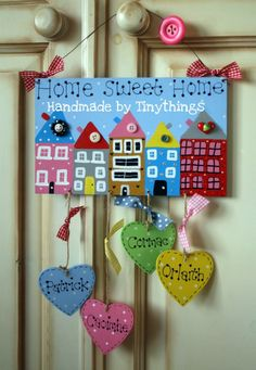 Personalised Home Sweet Home Sign by client Tiny Things