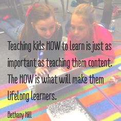"""""""A2: Figuring out HOW they learn and fostering it will empower Ss. More important than content! #satchatwc"""""""