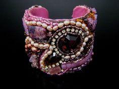 Purple Haze Cuff Bracelet  One of a Kind Boho ♥ by SharonaNissan, $440.00