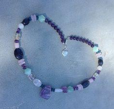 All That Glitters Mixed Quartz  Amethyst Necklace by madebyfarrah, $32.99