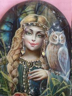 Купить Цветок папоротника - болотный, цветок папоротника, ведьмочка, колдунья, девушка, сова, филин, мудрость