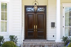 No matter what style entry door you're looking for, we can fulfill your vision. Exterior Doors, Entry Doors, Wood Doors, Garage Doors, Entryway, Fromt Doors, Transom Windows, Traditional House, Luxury Real Estate