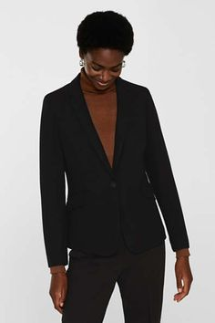 Blazer & Anzüge für Damen im Online Shop kaufen   ESPRIT Business Hose, Blazer, Fit, Jackets, Fashion, Two Piece Outfit, Chic, Female Fashion, Clothing