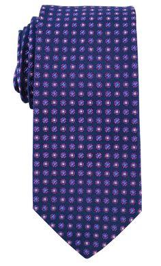 Brooks Brothers Men's Mini Flower Woven Silk Tie, Navy at Amazon Men's Clothing store: