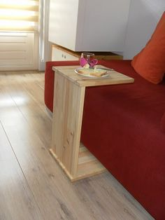 sidetable or laptop table made from leftover RAST pieces.