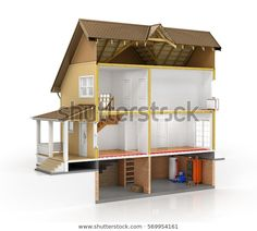 Find Concept Design Sliced House Isolated Layers stock images in HD and millions of other royalty-free stock photos, illustrations and vectors in the Shutterstock collection. Cute House, House Plans, Layers, Royalty Free Stock Photos, Concept, Architecture, Illustration, Furniture, Design