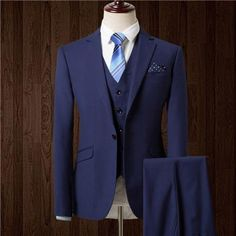 HB076 new autumn wedding navy blue suits men blazer men men's navy blue business suits men's Dress suits size M-5XL tailor made