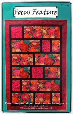 'Focus Feature' Quilt Pattern - from Firetrail Designs - for large scale prints
