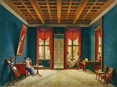 Gods and Foolish Grandeur: Sitting rooms in Berlin, by Johann Erdmann Hummel, circa 1820
