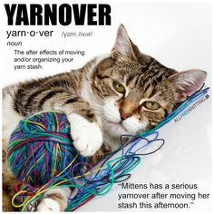 Yarnover - the aftereffects of moving and/or organizing your yarn stash.