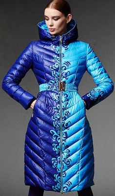 Two-Toned-Blue Duck Down Coat