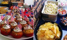 Kaakao kermavaahdolla: ♥ Syntymäpäivät Amerikka-teemalla & mariannemuffinit