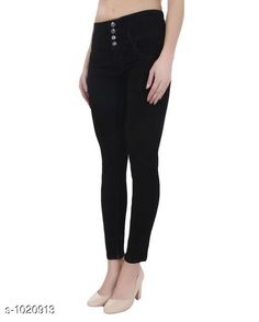 Jeans Stylish Denim Women's Jeans  *Fabric* Denim  *Waist Size* S- 28 in, M- 30 in, L- 32 in, XL- 34 in , XXL - 36 in  *Length* Up To 40 in  *Type* Stitched  *Description* It Has 1 Piece Of Women's Denim Jeans  *Work* Solid  *Sizes Available* 28, 30, 32, 34, 36 *    Catalog Name: Alyssa Stylish Denim Womens Jeans Vol 1 CatalogID_123166 C79-SC1032 Code: 504-1020913-