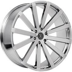 30x10 Chrome Velocity VW12B Wheels 6x5.5 +25 Fits Cadillac Escalade #Velocity