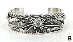 Hand made Native American Indian Jewelry; Navajo Sterling Silver Navajo bracelet