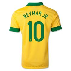 Official non-branded replica Brazil Home jersey. Embroidered Brazil team badge Official Brazil style heat screened player name & number ( NEYMAR JR) Moisture control material for supreme ventilation… Soccer Gear, Soccer Uniforms, Soccer Shop, Kids Soccer, Soccer Jerseys, Neymar Jr, Brazil Team, World Cup Jerseys, Brazil World Cup