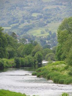 Llanrwst Conwy River Wales