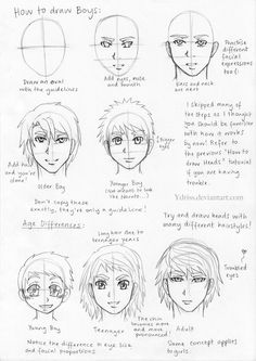 How to Draw Manga: Head of Boys by ~Ydriss