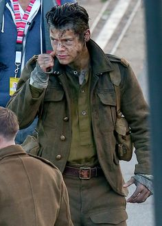 "harrystylesdaily: "" Harry on set of 'Dunkirk' in UK - 7/28 """
