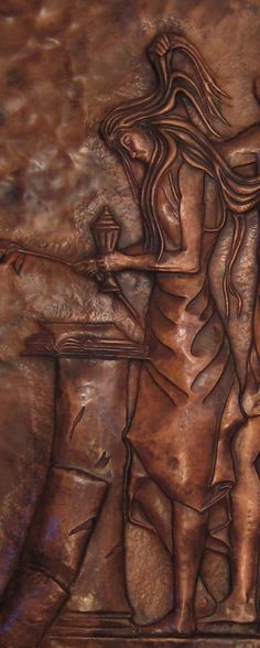 Copper Repousse | Hand Made Copper Repousse / Chasing - Weeping Virgin by A Copper Rose ...