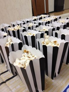 Popcorn for basketball party. Black and white for referee colors. Basketball birthday party.