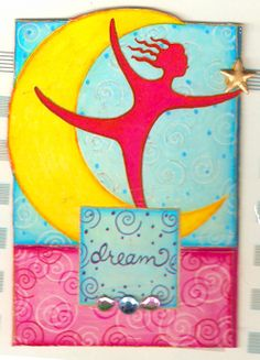 Simple ATC made with the oldest stickers I had in my stash.  :)