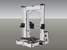 """This is another lasercut - frame printer based on Mendel Prusa i3 and Graber. Increased frame gives greater print area (200x200x350mm) You can use any of the carriage for Prusa i3 (I use Rasus carriages http://www.thingiverse.com/thing:174561) Use 6mm studs and 8mm shafts Frame is held together with screws m3 20mm As there are holes for the mounting Arduino Mega (RAMPS) Use """"Another 6"""" for 6-6.5mm materials, and """"Another 7"""" for 6.5-7mm materials. NEW: x-carriage to MK7 extruder"""