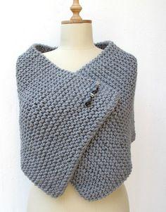 Capelet stricken Wrap Poncho stricken von crochetbutterfly auf Etsy