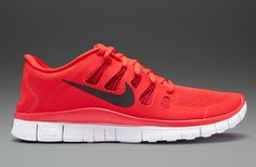 Nike Free 5.0+ - Mens Running Shoes - Light Crimson-Black-Gym Red-Summit White