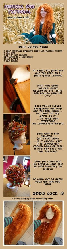 Merida Wig Tutorial by ~Deathly-Sora on deviantART