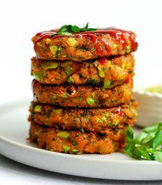 Vegan Sweet Potato Recipes, Veggie Recipes, Whole Food Recipes, Vegetarian Recipes, Cooking Recipes, Vegan Stuffed Sweet Potato, Vegetarian Cooking, Easy Cooking, Healthy Burger Recipes