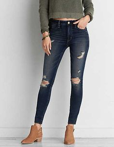 d0270ad2966f6 American Eagle Outfitters Men's & Women's Clothing, Shoes & Accessories.  Ripped JeggingsRipped ...