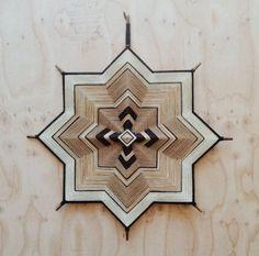 Custom order for Matter415 - Mandala 29 inch, Ojo de Dios, Decorative yarn mandala wall hanging