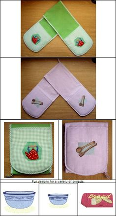 """""""Kitchen Designs 4x4"""" comes with 22 designs featuring favorite kitchen gadgets, utensils and more! PLUS instructions and a pattern to stitch your own Jolly Molly (aka: Double Potholder)! Oh sew fun!"""
