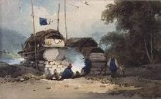 George Chinnery -River side encampment