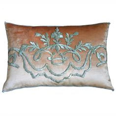 b vizard pillow | Antique Ottoman Empire Silvery Gold Raised Metallic Embroidery