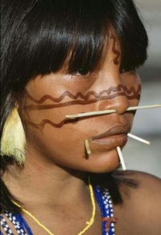 Yanomami woman. Amazon rainforest