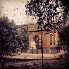Plaza del dos de mayo. Malasaña. Madrid @Prado Campos