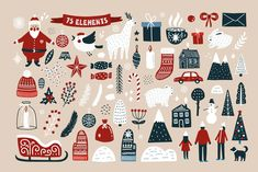 christmas illustration Ad: Merry Christmas - Scandinavian Set by JuliyArt on creativemarket. I represent to your attention vector kit for Christmas design - Merry Christmas! With this magic kit you can create cards, postcards, Merry Christmas Card, Christmas Mood, Christmas Stickers, Scandinavian Christmas, Christmas Printables, Scandinavian Style, Christmas Crafts, Merry Christmas Poster, Scandinavian Pattern