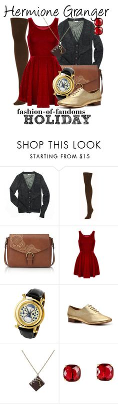 """Hermione Granger"" by fofandoms ❤ liked on Polyvore featuring Madewell, We Love Colors, M&S, Envy and Kate Spade"