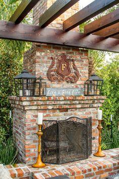 Outdoor Fireplace. Landscape architecture and design by @jrichardsonla