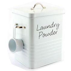 LAUNDRY POWDER STORAGE TIN WASHING TABLETS CAPSULES CONTAINER HOLDER UTILITY BOX | eBay