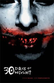 """30 Days of Night"" written by Steve Niles and illustrated by Ben Templesmith.  A vampire horror series"
