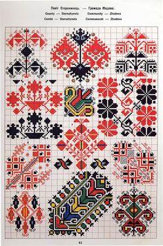 FolkCostume&Embroidery: Ukrainian and Romanian embroidery of Bukovyna-Bucovina Cross Stitch Borders, Modern Cross Stitch, Cross Stitch Charts, Cross Stitch Designs, Cross Stitch Patterns, Folk Embroidery, Cross Stitch Embroidery, Embroidery Patterns, Motifs Blackwork
